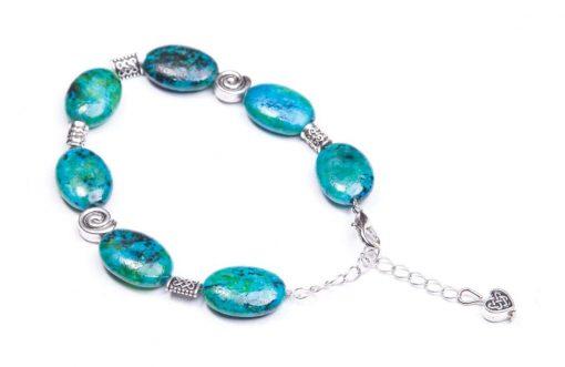 Chrysocolla Bracelet (Handmade In Ireland)