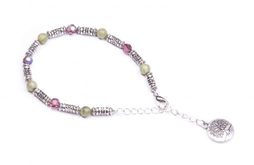 Tree of life Preciosa and Connemara Marble Bracelet (Handmade In Ireland)