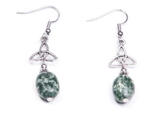 Trinity knot Tree Agate earring(Handmade In Ireland)