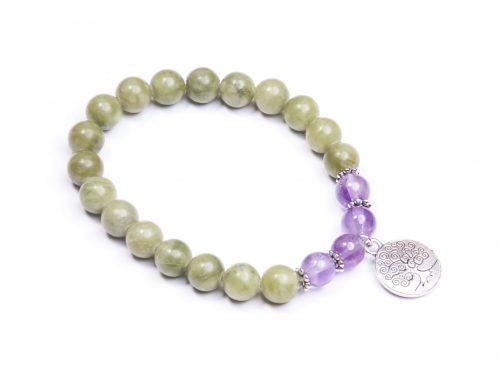 Tree of life Connemara marble charm bracelet (Handmade In Ireland)