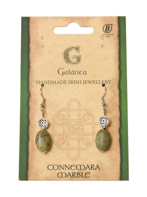 Oval Connemara Celtic knot earrings (Handmade In Ireland)