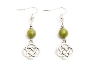 Connemara Celtic Knot Drop Earrings (Handmade In Ireland)