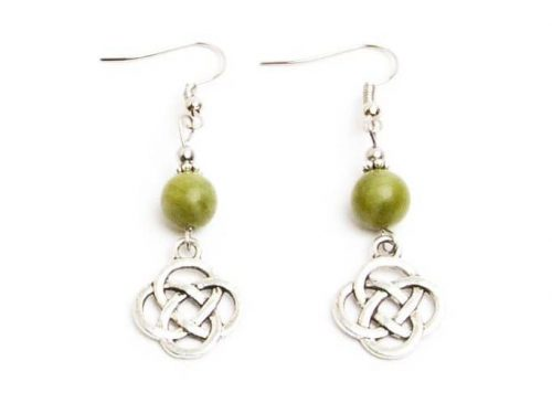 Connemara Celtic Knot Drop Earrings