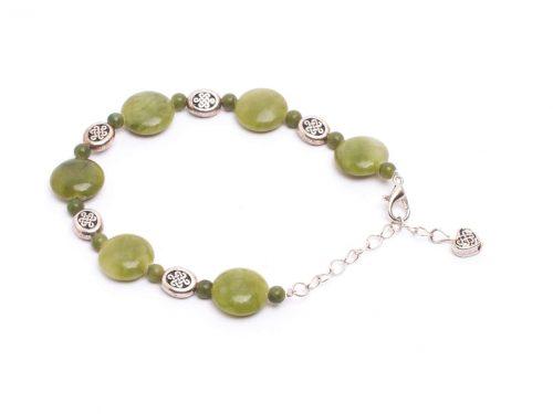 Two tone Celtic knot Button Bracelet