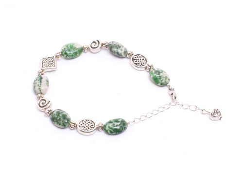 Oval Tree Agate Bracelet