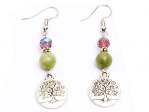 Preciosa & Connemara Tree of Life Earrings (Handmade In Ireland)