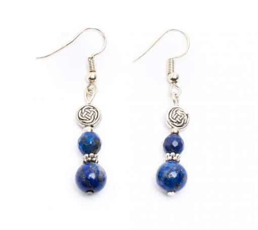 Lapis Celtic knot Earrings